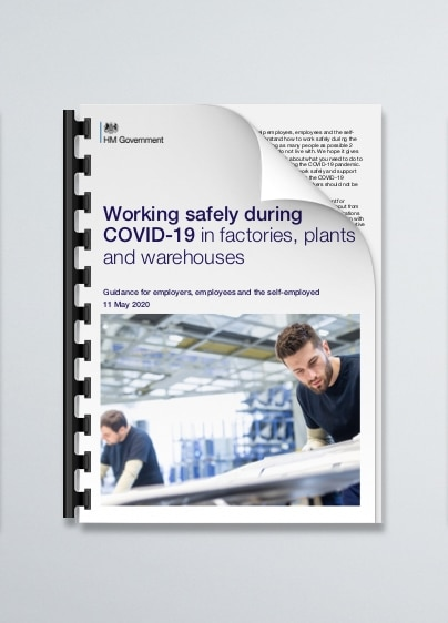 Working safely during COVID-19 in factories plants or warehouses