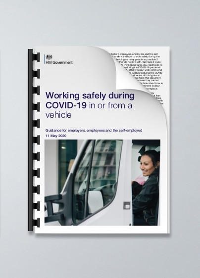 Working safely during COVID-19 in or from a vehicle