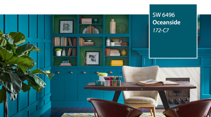 Sherwin-Williams' colour of the year for 2018 - Oceanside